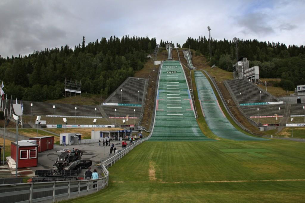Lysgårds-Schanze in Lillehammer von den Olypmischen Spielen 1994