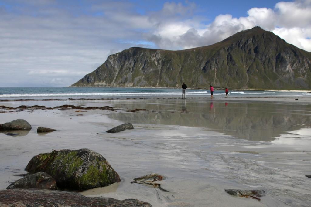 Flakstad-Strand auf den Lofoten