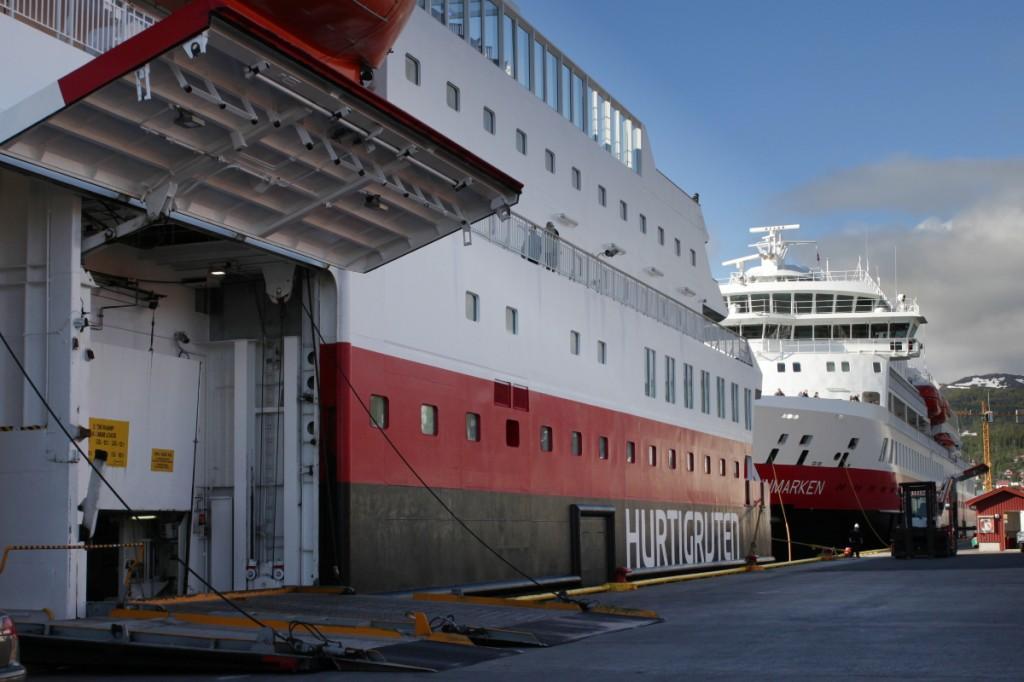 Die MS Nordnorge der Hurtigruten-Flotte